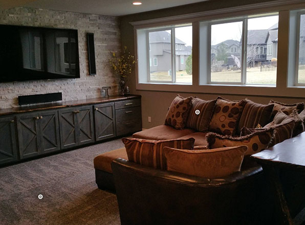 See Outdoors. Olathe Basement Remodeling. Johnson County Remodeling.
