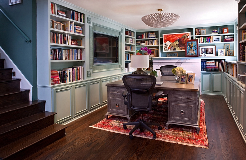 Johnson County Remodeling Basement Remodeling Home Office traditional elegance