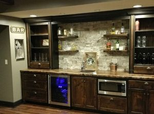 Johnson County Kitchen Remodeling-bar-sink-fridge
