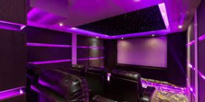 home theater purple home theater