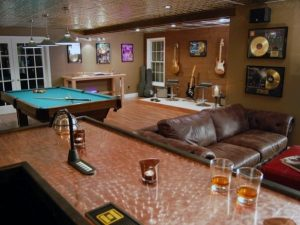 Johnson County Remodeling Basement Remodel Music Room Man Cave