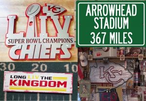 chiefs man cave vintage signs