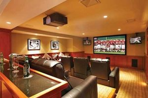 home theater basement remodeling man cave