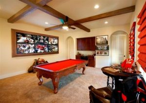 man cave chiefs pool table bar