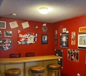 man cave chiefs wet bar