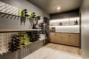 mid-century modern wine cellar