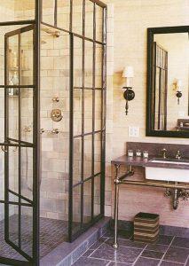 industrial-vintage bathroom-design