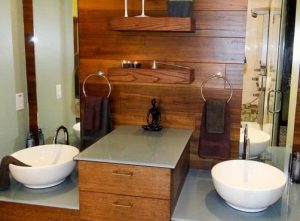 warm cozy bathroom design
